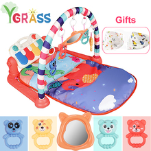 3 in 1 Baby Play Mat Kid Gym Toys Infant Carpet Rattles With Piano Musical Playmat Crawling Activity Education Toy 3 in 1 baby playmat piano musical sleep lullaby activity fitness gym mat kid sleeping safety blanket christmas gift for children