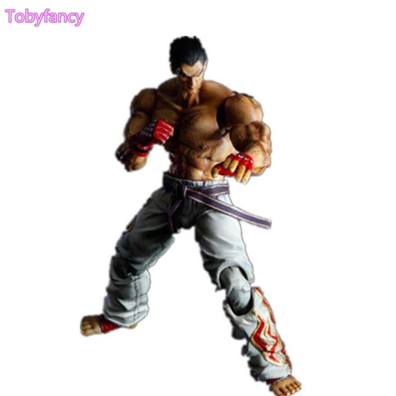 Tekken Kazuya Mishima PVC Action Figure Play Arts Kai Toy 26cm Game Anime Tekken Playarts Kai Toys Doll Gift free shipping 10 pa kai game tekken tag tournament 2 mishima kazuya boxed 25cm pvc action figure collection model doll toy gift