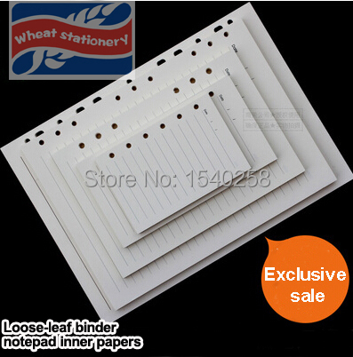 Aliexpress.com : Buy Size A4 A5 B5 A6 A7 paper for binder notepad ...