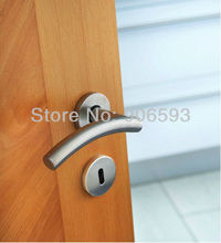цена 6pairs free shipping Modern stainless steel classic camber door handle/handle/lever door handle/AISI 304