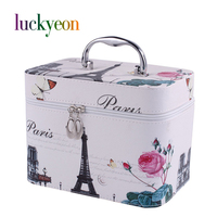 Fashion Pu Portable Multifunctional Large Women Travel Makeup Case Cosmetic Case Bag Make Up Box