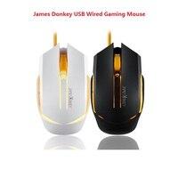 James donkey 112 usb wired gaming mouse óptico 2000 dpi 6 botões retroiluminação para o jogo csgo cf lol mac computador portátil do escritório ratos james donkey 112 2000 dpi james donkey -