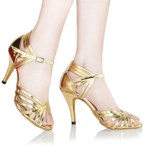 Elegance Ballroom Latin Dance Shoes Woman Ladies Silver Gold Popular Sexy Salsa Tango Dance Shoes Sandals Professional Comfort