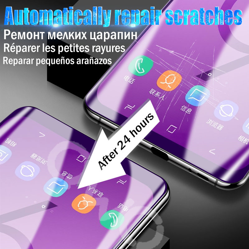 20D Scratchproof hydrogel for Samsung galaxy s8 s9 s10 plus s10e screen protector for Samsung note 10 9 8 Front Back protective