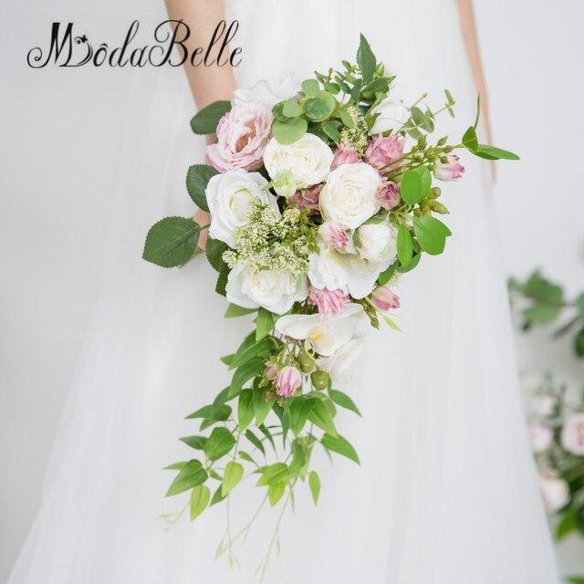 Modabelle Rose Pfingstrosen Cascade Brautstrauß Künstliche Weiße ...