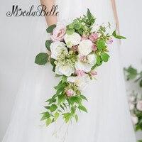 modabelle Rose Peonies Cascade Bridal Bouquet Artificial White Flower Wedding Bouquets Bride Holding Bouquet Decoration Mariage