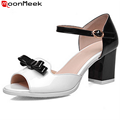 2016 new arrvie women pumps soft leather fashion simple high quality high heels wedding shoes sexy peep toe ladies prom shoes