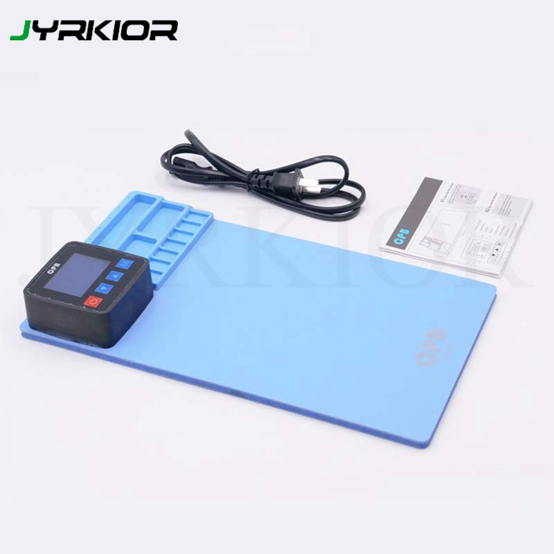 Jyrkior 110/220V Mini CPB Heating Rubber Blue Pad For IPhone IPad Samsung LCD Screen Separator Disassembly Tools