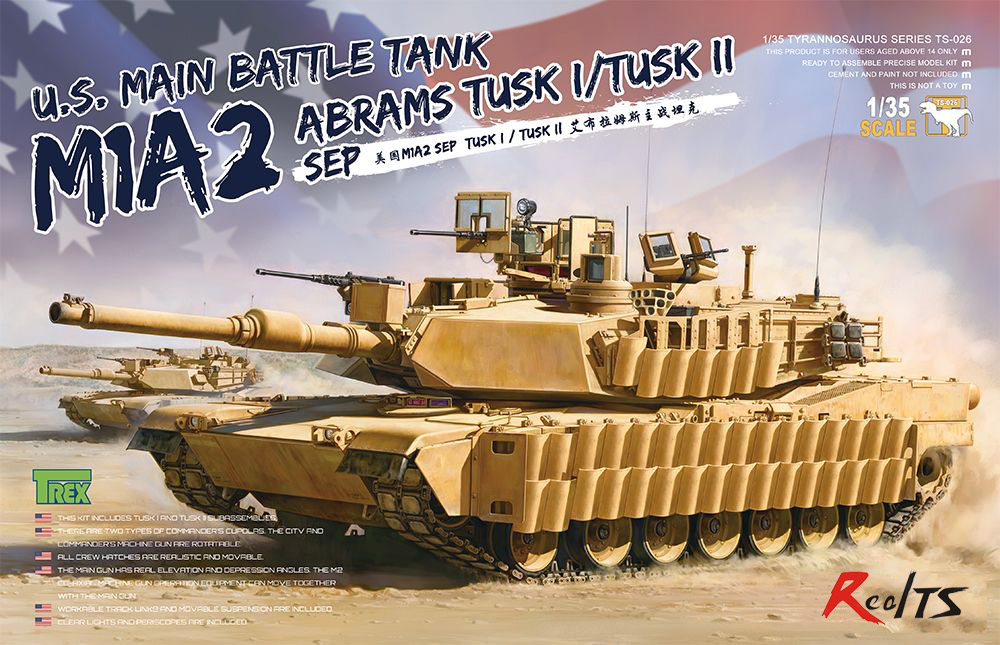 RealTS Meng Model TS-026 1/35 U.S. Main Battle Tank M1A2 SEP Abrams Tusk I/Tusk II ohs tamiya 35326 1 35 u s main battle tank m1a2 sep abrams tusk ii military assembly afv model building kits