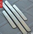 2009-2012 para toyota yaris alta qualidade em aço inoxidável do peitoril da porta scuff painel placa kick limiar protetor passo para