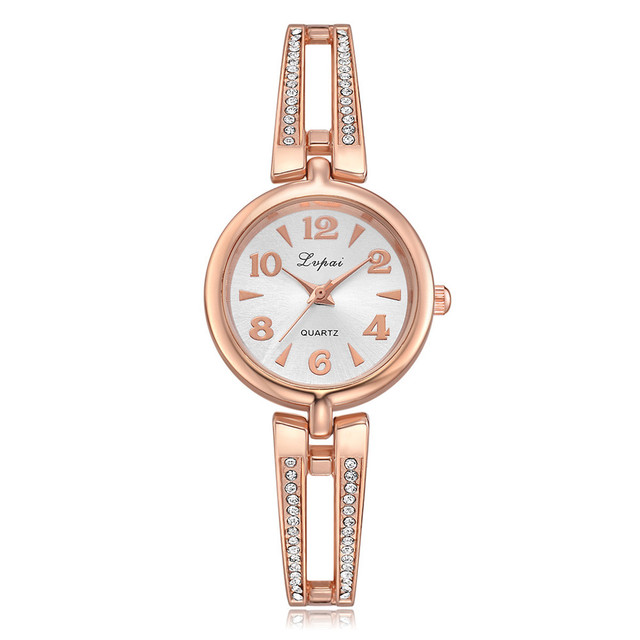 Simple Casual Watch Women Small Dial Fashion Wristwatch Figures Alloy Quartz Bra