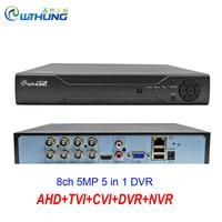 New 8CH 5MP DVR H.265+ Hi3521D 8 Channel 5 in 1 Hybrid Video Recorder Wifi XVi TVi CVi IP NVR For Home CCTV 5MP 4MP 1080P Camera