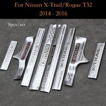 Dla Nissan x-trail T32 2014 do 2016 nakładka na próg pokrywa listwa progowa wykończenia ze stali nierdzewnej samochodu stylizacji akcesoria