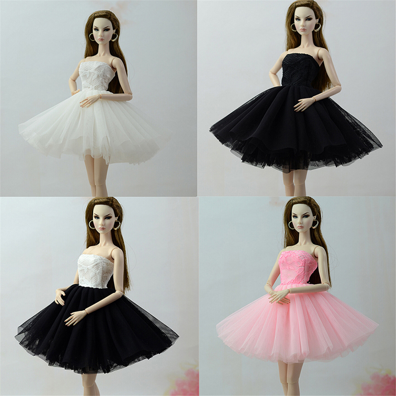 1:6 Doll Black Little Dress Dancing Costume Ballet Dress For 1//6 Doll Clothes