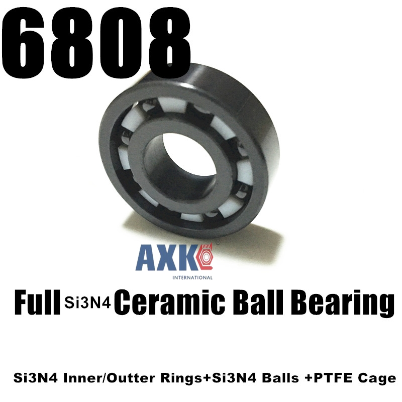 Free shipping 6808 full SI3N4 ceramic deep groove ball bearing 40x52x7mm цена и фото