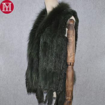 2019 Party Luxury Women prawdziwy królik futerkowa kamizelka prawdziwe prawdziwe futro z królika kamizelki płaszcz dzianiny jakości frędzle prawdziwy szop kamizelka futrzana tanie i dobre opinie Futra królika Dwulicowy futro REGULAR Szczupła Krótki Bez rękawów Z jenot fur collar STANDARD Paski Na co dzień YH32710