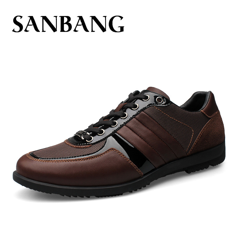 Brand Men Casual Shoes Genuine Leather Men Shoes Lace-up Breathable Soft Autumn Casual Flats Formal Shoes Plus Size 45 DX5 ninyoo soft fashion men casual shoes genuine leather flats shoes black high quality breathable students shoes plus size 46 47 48