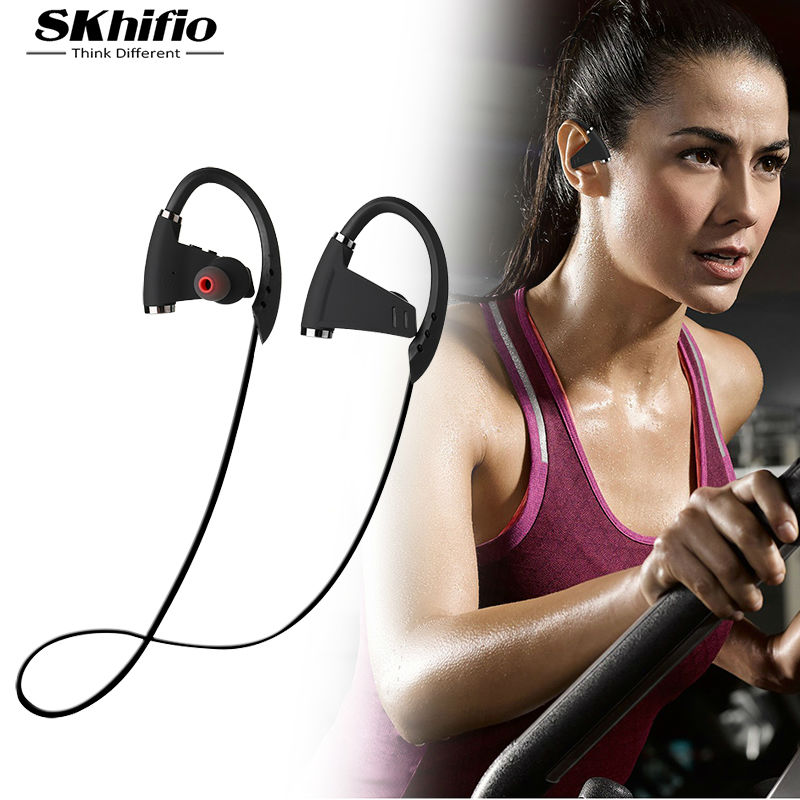 Bluetooth Wireless Headphone Earphones IPX4 SKhifio U9 in-Ear Stereo Cordless Running Headsets Earbuds with Mic for Xiaomi Phone