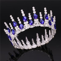 Luxury Bride wedding crown Rhinestone tiaras and crowns headband Baroque Vintage Prom Royal Princess Diadem hair accessories
