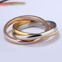 Three Layers Carter Love Wedding Rings