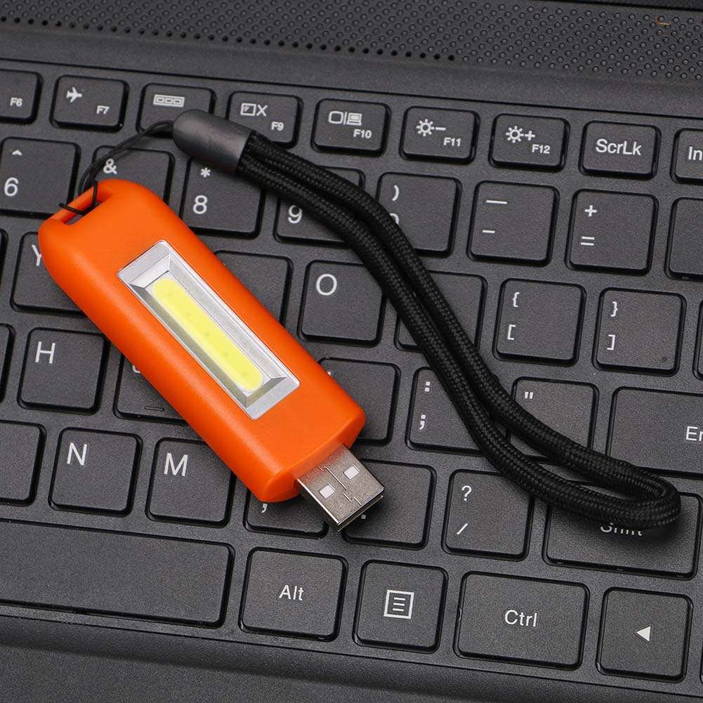 0.5W COB LED Light Torch Flashlight Light USB Rechargeable Pocket Lamp Portable