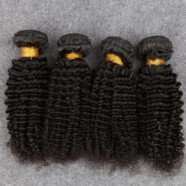 4 Pacotes Brasileira Encaracolado Crespo Cabelo Virgem Produtos de Cabelo de Graça Afro Crespo Encaracolado 7A Cabelo Brasileiro Crespo Encaracolado Tecer Humano cabelo