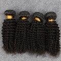 Cabelo Virgem malaio 4 Pacotes Cabelo Encaracolado Malaio Slove 8-30in para o Cabelo de rosa Malásia Kinky Curly Virgem Cabelo Onda Profunda Curly 1b