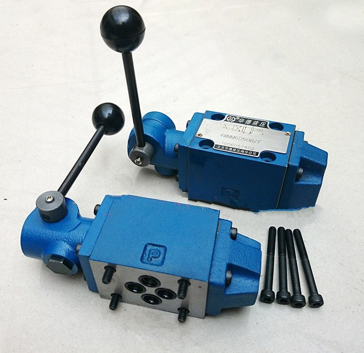 The manual directional control valve 4WMM10G10B hydraulic valve huade solenoid valve 4we6g61b cg24n9z5l hydraulic valve directional control valve