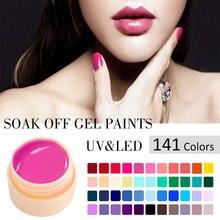 #50618 canni ногтей оптовая продажа высокое качество soak off 141 цвета Цвет гель uv/LED 2 в 1 гель краски(China (Mainland))