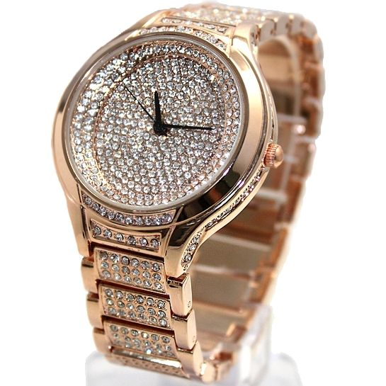 07c11312d New Fashion Design Luxury Ladies Watches For Pretty Women Round White Dial  300PCS.Crystals Stone