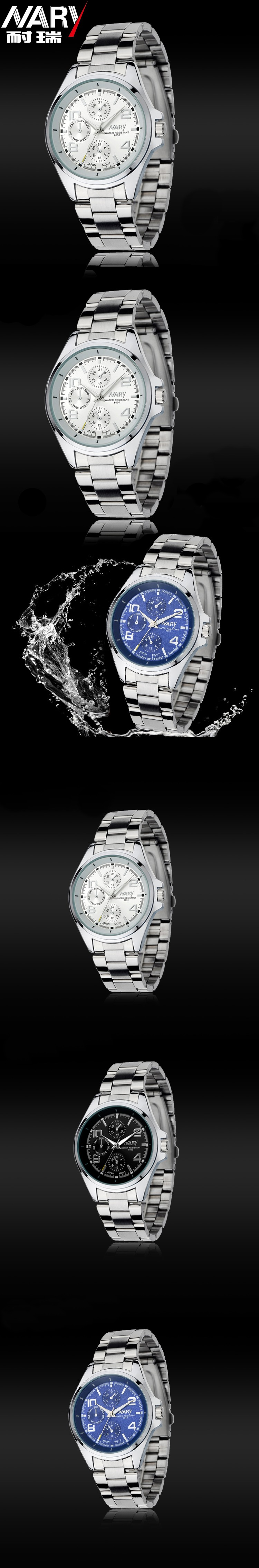 HTB1EWl7JFXXXXaYXpXXq6xXFXXX1 - Nary Часы мужчины люксовый бренд Бизнес часы кварцевые часы спортивные мужчины полный стали наручные часы Повседневное часы Relogio Masculino 2016