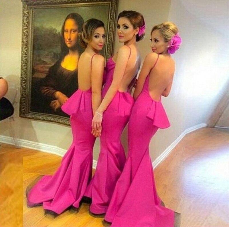 Baratos Púrpura Vestidos de Sirena de Las Correas de Espagueti ...