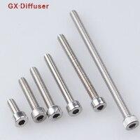 GX Diffuser Screw M4 Wood Screws Hex Socket Stainless Steel Inch Spacer Hardware Furniture Fastener Bolt