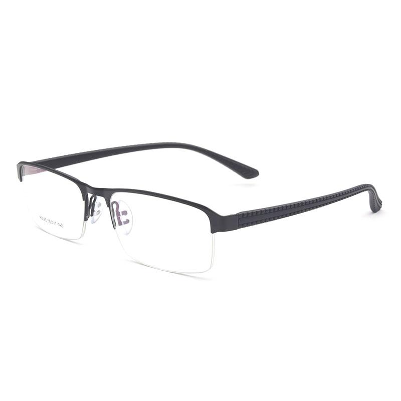 Reven Jate P9165 Optical Business Titanium Eyeglasses Frame For Men Eyewear Semi-Rimless Glasses With 4 Optional Colors