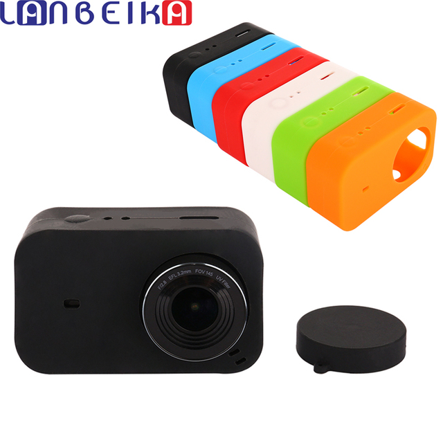 LANBEIKA For Xiaomi Mijia 4K Accessories Silicone Protection Case + Lens Cover Mount Kit Skin for Xiaomi Mijia 4K Action Cam