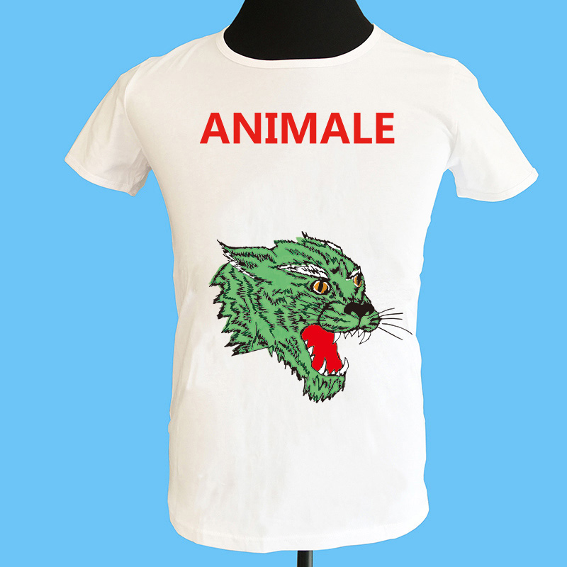 Seestern brand clothing men t shirt printing Animale letter Panther face pattern new Summer short sleeved cotton tops tee