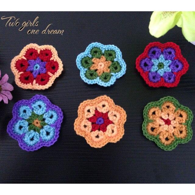 Decoration Caboteurs Crochet Fait Main Tasse Pad Multicolore Fleur