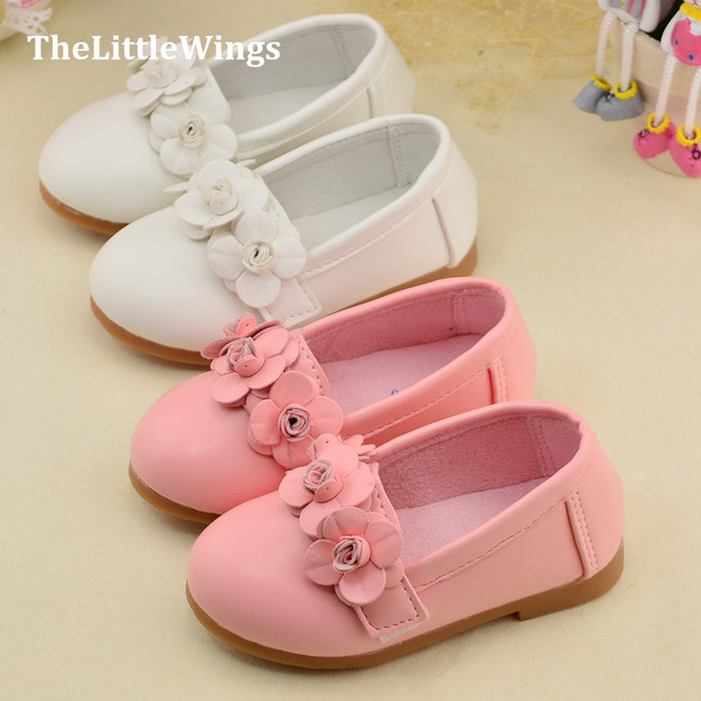 2016 spring girls shoes soft pu leather loafers breathable kids shoes princess sandal Super soft and comfortable Free Shipping Girl's Shoes