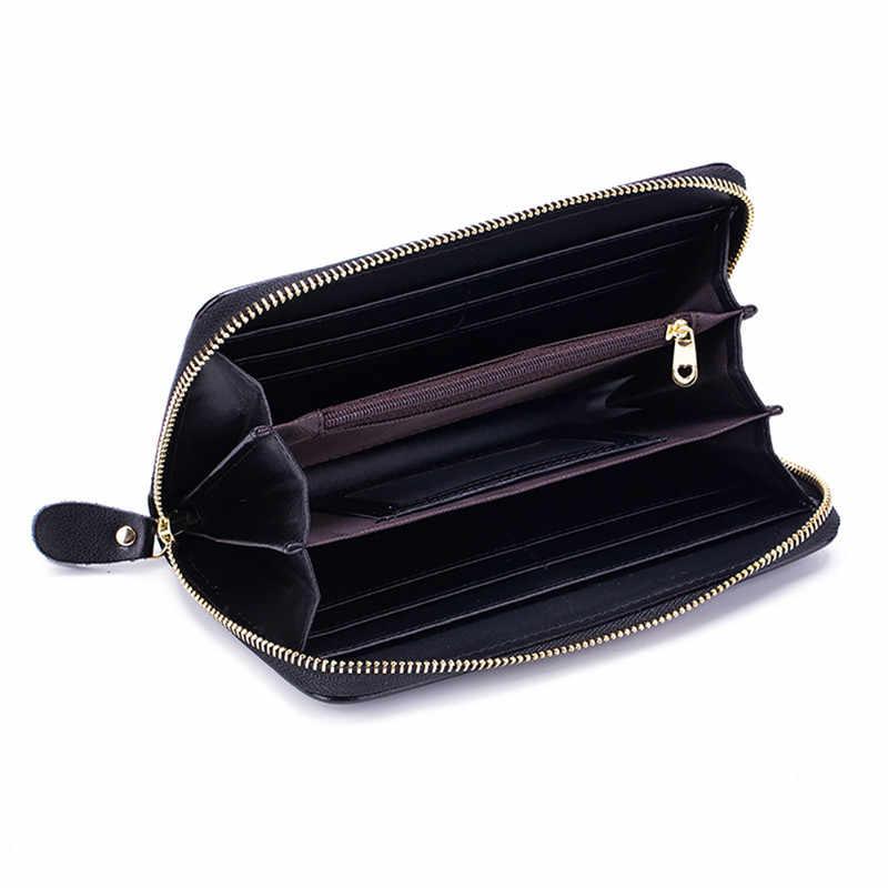 Fengdong, женский кожаный кошелек, цветок, сумка для телефона, винтажный кошелек с цветами, подарки для девочек, на молнии, длинный rfid кошелек, Женский держатель для карт