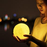3d Moon Led Table Lamp Luna Private Touch sensing Switch Desk Lamps Custom Gift Charging Luminaria De MesaMoon Night Light