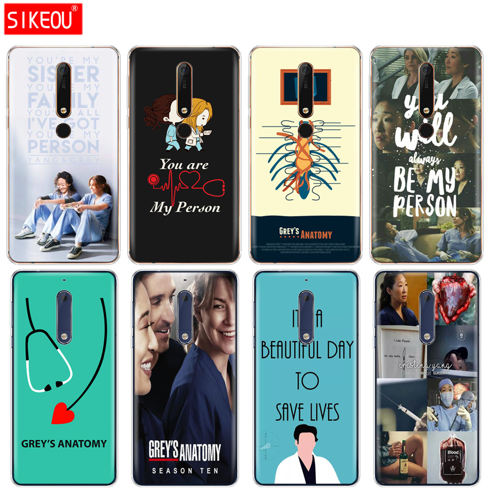 silicone <font><b>cover</b></font> phone case <font><b>for</b></font> <font><b>Nokia</b></font> 5 3 6 7 PLUS 8 9 /<font><b>Nokia</b></font> 6.1 5.1 3.1 <font><b>2.1</b></font> 6 <font><b>2018</b></font> You're My Person Greys Anatomy image