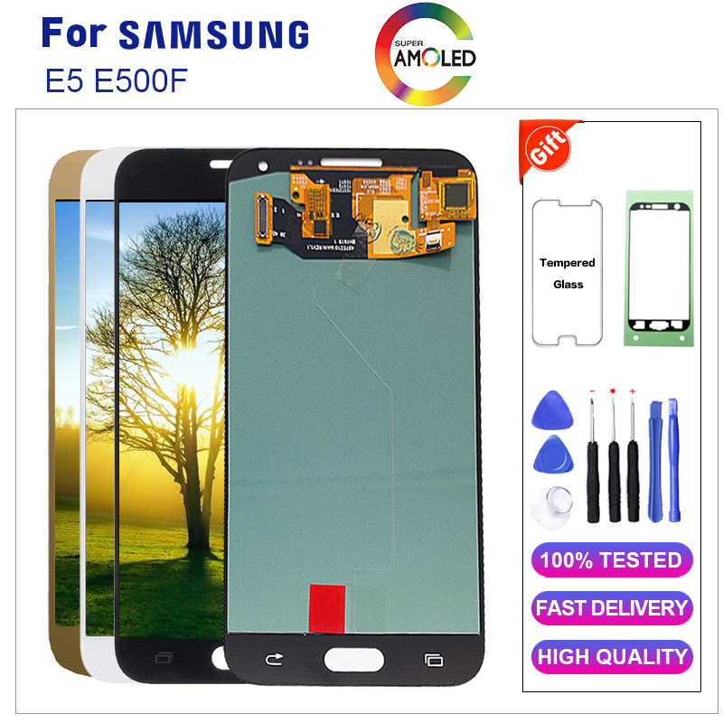 AMOLED For Samsung E5 E500F LCD Display Touch Screen Digitizer Assembly 100% Tested Original Amoled Material LCDAMOLED For Samsung E5 E500F LCD Display Touch Screen Digitizer Assembly 100% Tested Original Amoled Material LCD