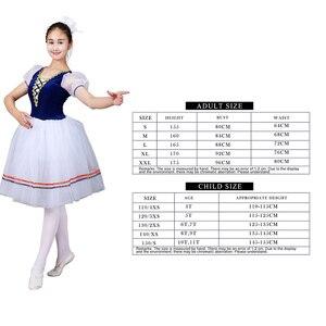 Image 2 - Giselle Ballet Long Tutu Swan Lake Ballet Costume Adults Women Professional Romantic Dress Ballerina Kids Children Dancewear