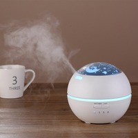 150ML Projector Design Ultrasonic Electric Air Purifier Humidifier Essential Oil Diffuser Air Humidifier Aroma Lamp Gifts