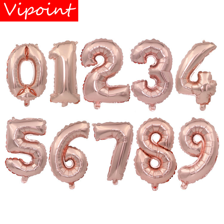 VIPOINT PARTY 32inch rose gold number foil balloons wedding event christmas halloween festival birthday party two HY 40 in Ballons Accessories from Home Garden