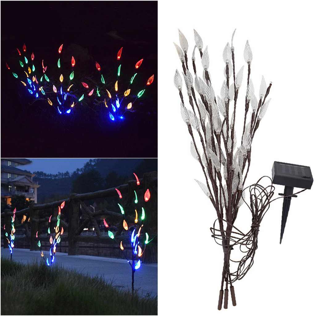 Dropshipping Pine Cone Tree Branch Warm Light Fairy String Lamp Xmas Home Party Decor 60LED