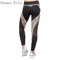 Future Timer Women Sexy Leggings Leopard Love Heart Mesh Leggings Female Casual Autumn Pant Ladies Workout Skinny Legging L0087