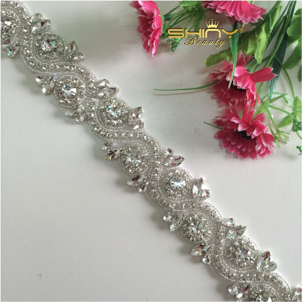 Wedding rhinestones applique crystal rhinestone wedding for Applique decoration