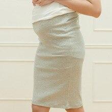 Ол летней все-матч регулируемые живота юбки материнства юбка беременных одежды хлопок