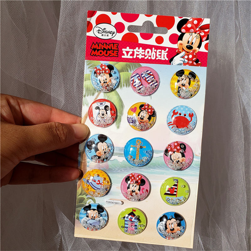 Disney Frozen Blister Shake Stickers Children Cartoon Sophia Princess Boy Girl Puzzle Fun Stickers Mickey Mouse Toys